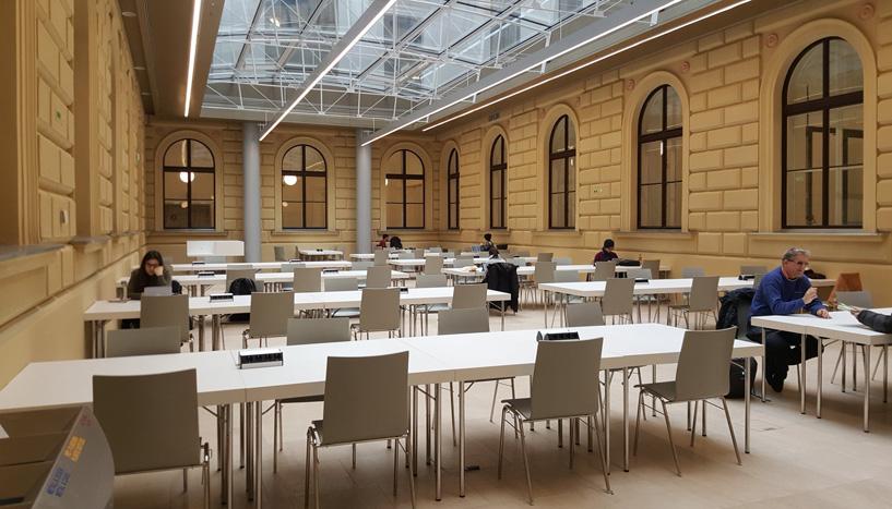 Neuer Lesesaal im Atrium Hof7 des Hauptgebäudes Foto: