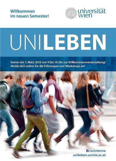 Plakat zur UniLeben am 1. März 2016.