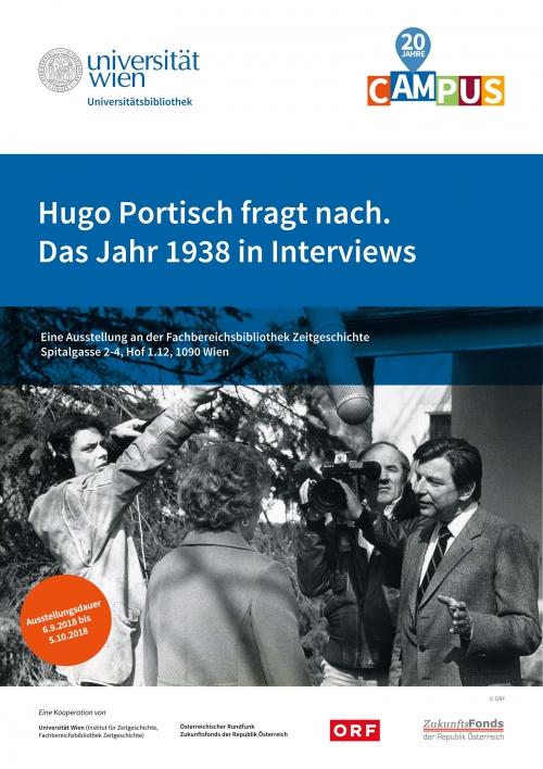 Plakat Hugo Portisch fragt nach. © UB Wien