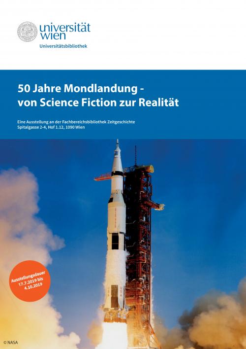 Ausstellung 50 Jahre Mondlandung. © Marc Drews / Universitätsbibliothek Wien