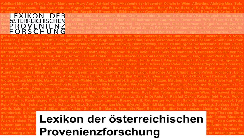 Präsentation: Lexikon der österreichischen Provenienzforschung Foto: