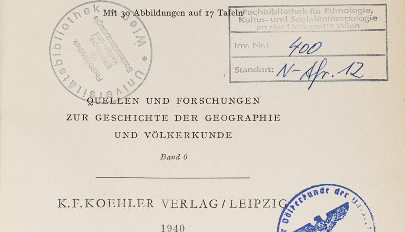 Ausstellung: Verfolgung - Vertreibung - Ermordung. Schicksale von Wiener VölkerkundlerInnen in der NS-Zeit  Foto: