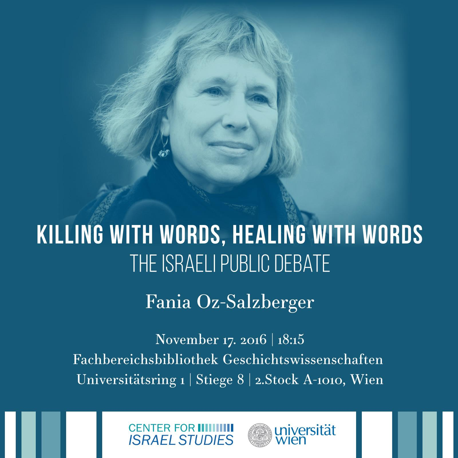 "Bild zur Veranstaltung Vortrag Fania Oz-Salzberger: ""Killing with Words"""
