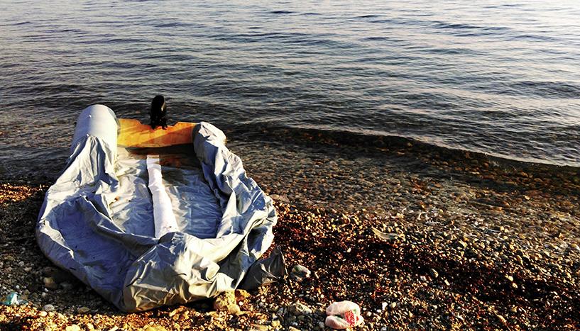 Zuflucht: Fotoausstellung zur Freiwilligenhilfe auf Lesbos Foto: