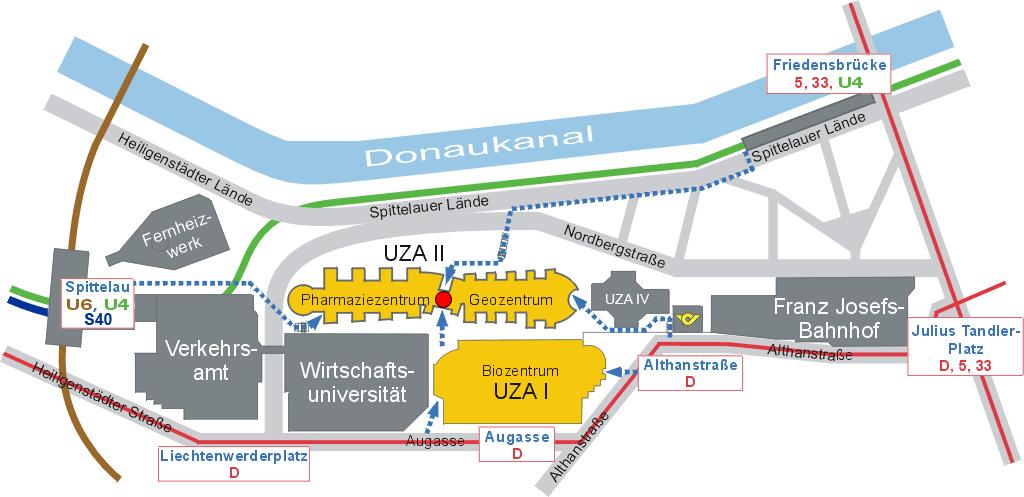 Lageplan UZA