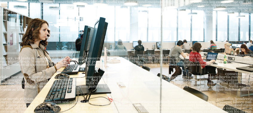 Computer-Arbeitsplätze. © Universität Wien / Barbara Mair