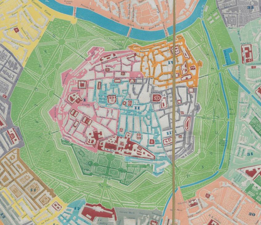 Neuester Plan von Wien und dessen 34 Vorstädten. © Universität Wien