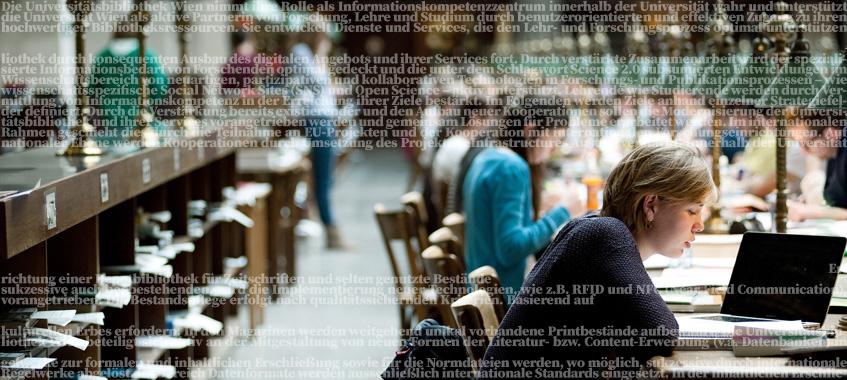Großer Lesesaal. © Universität Wien / Barbara Mair