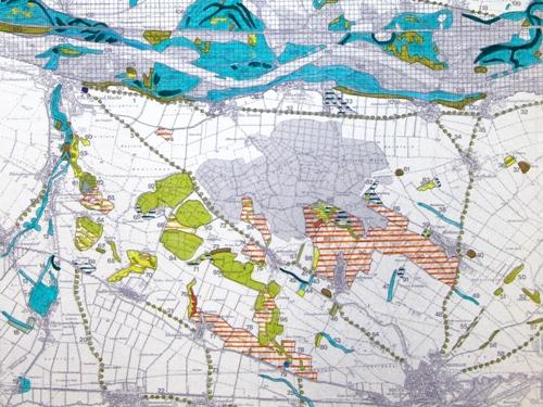 Karte vom Raum Bruck an der Leitha