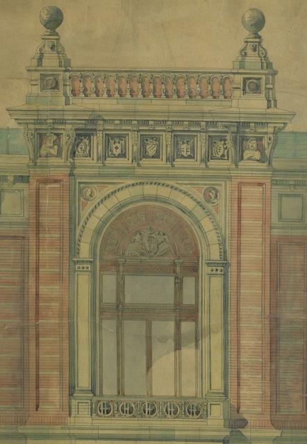 Fassaden-Entwurf für die Wiener Universitätssternwarte