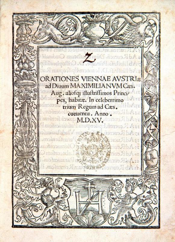 """Begrüßungsansprachen für Teilnehmer am """"Wiener Kongress"""" 1515"""