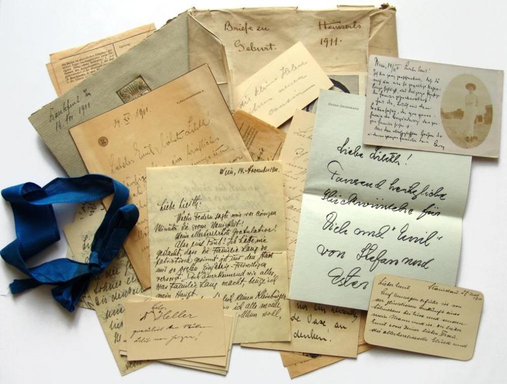 Sammlung von Korrespondenzstücken anlässlich der Geburt von Heinz von Foerster