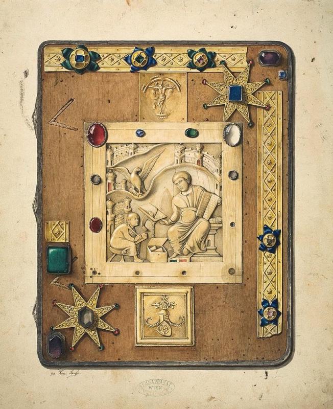 Bucheinband mit Elfenbeintafel des Evangelisten Johannes aus dem Domschatz zu Halberstadt