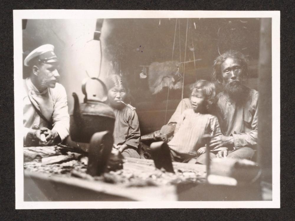 Fotografie mit Giljaken-Familie