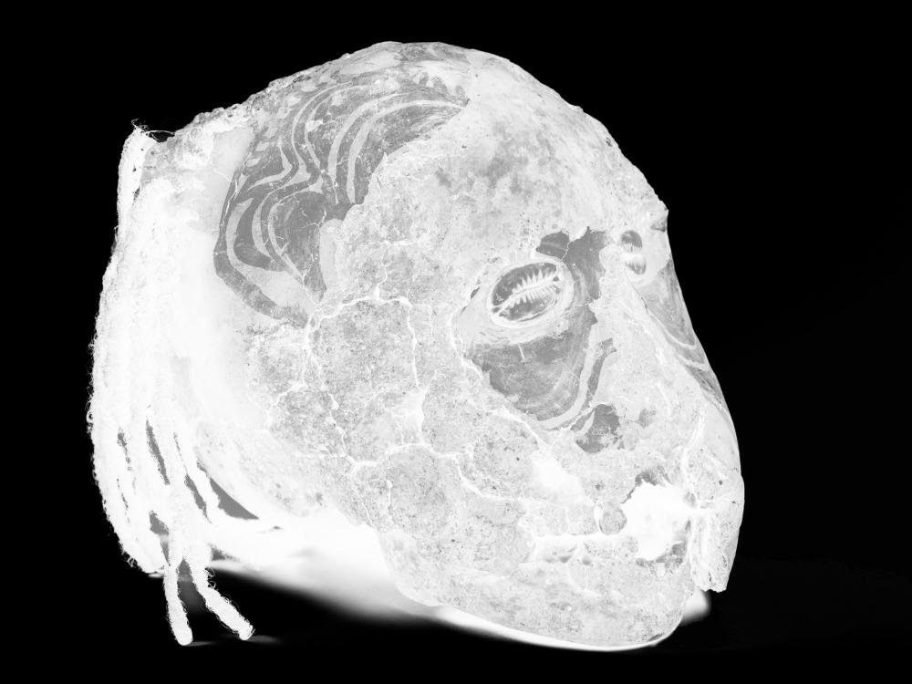 Übermodellierter Schädel