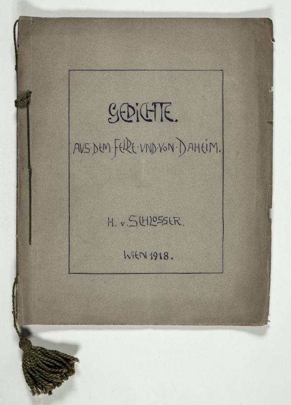 """Gedichtsammlung """"Gedichte aus dem Felde"""" (1918)"""
