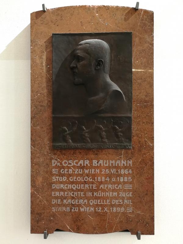 Gedenktafel für Oskar Baumann