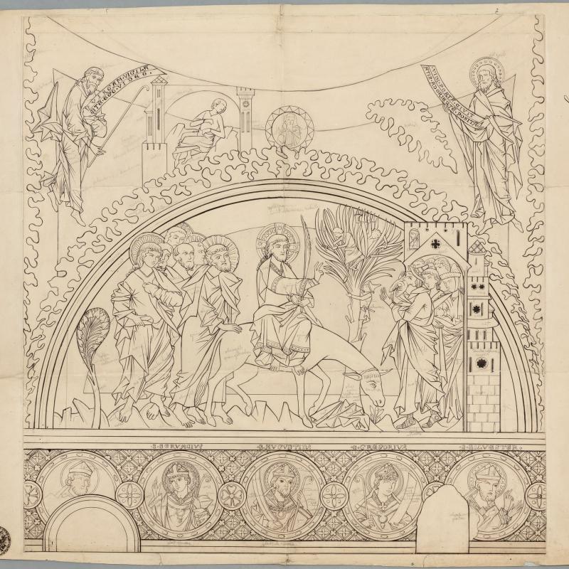 Federzeichnung von Johann Evangelist Klein Fotograph: Dr. Friedrich Polleroß