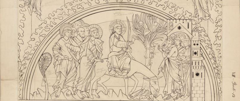 Federzeichnung von Johann Evangelist Klein