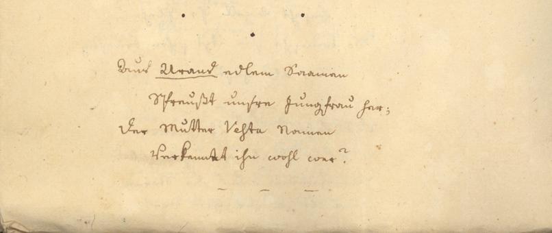 Manuskript aus dem Teilnachlass von Maximilian Hell