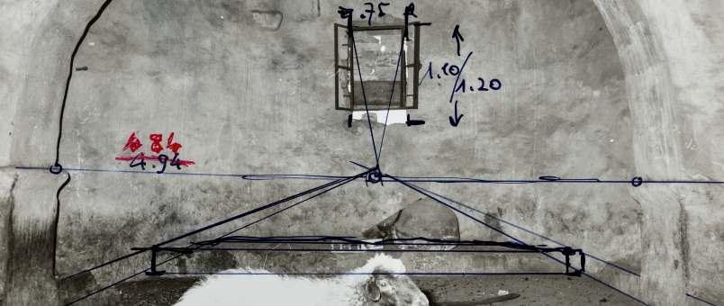 Fotographie mit photogrammetrischen Messungen von Marcell Restle, 1978